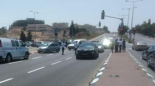 התאונה ברחוב גולדה מאיר.