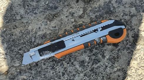 הסכין שעמה ניסה לבצע המחבל את הפיגוע