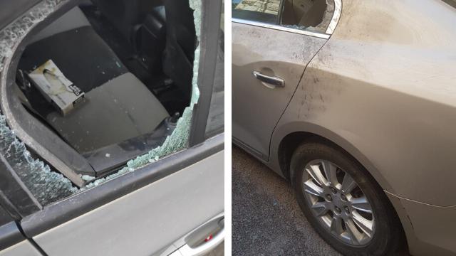 הנזקים שנגרמו לאחד הרכבים