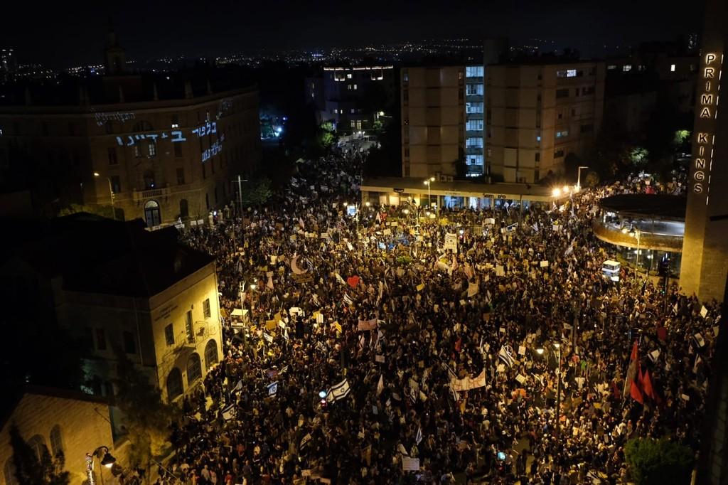 ההפגנה ברחוב בלפור