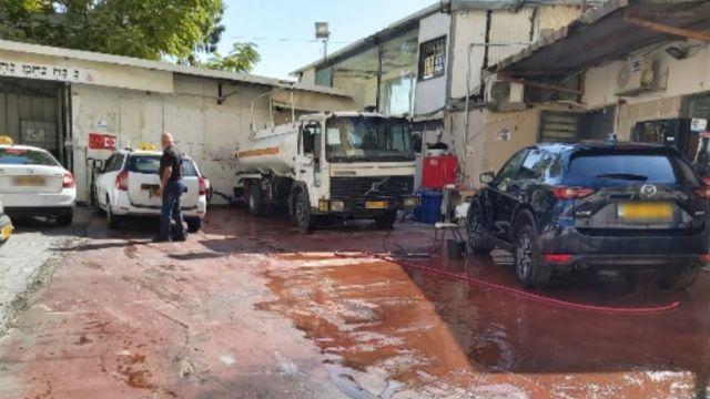 תחנת הדלק הפיראטית בשכונת רוממה