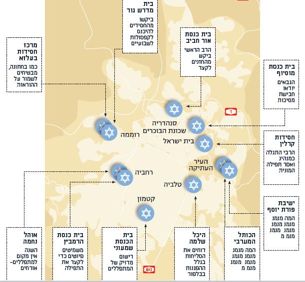 מפת התפילות של ירושלים
