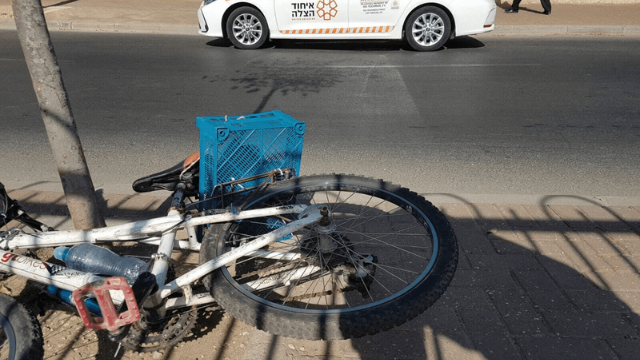 זירת התאונה בשכונת נווה יעקב