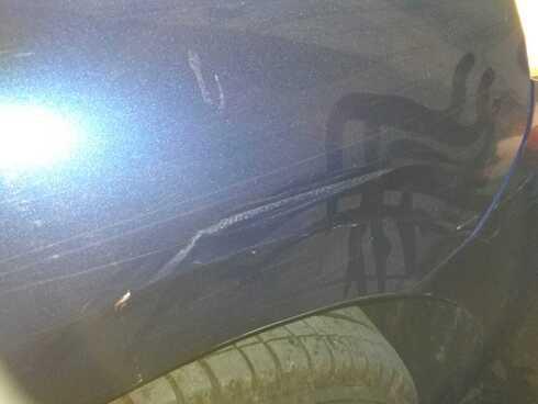 הפגיעה ברכב