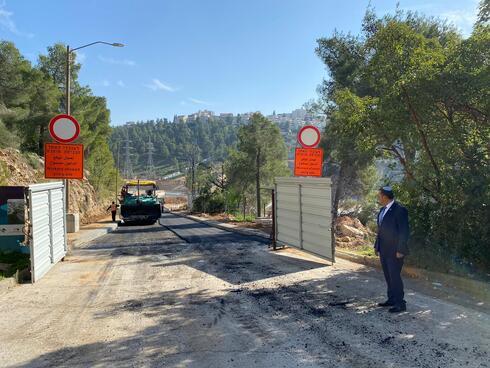 הכביש החדש בהר נוף