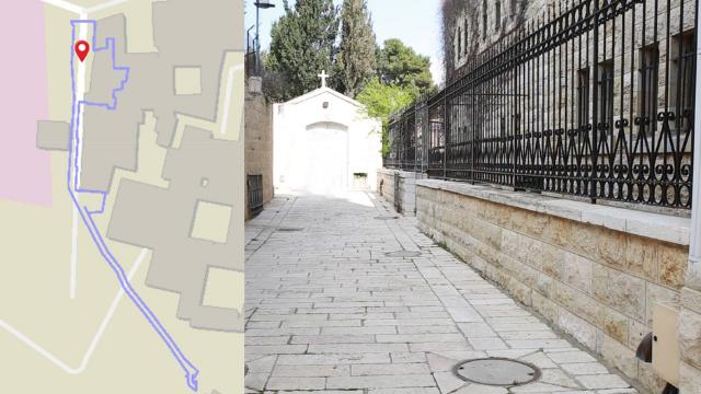 סימון תוואי המנהרה בעיר העתיקה