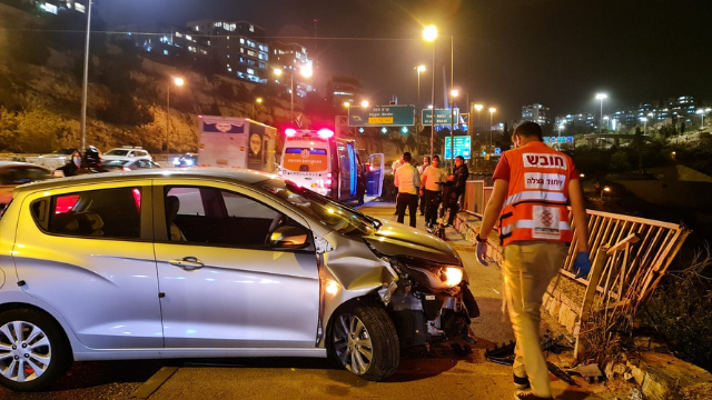 התאונה בכביש בגין