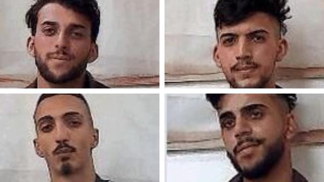 חלק מהחשודים שנעצרו