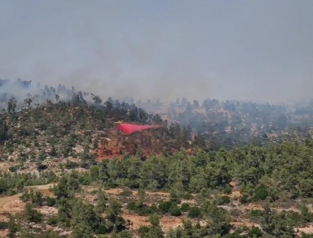 השריפה סמוך להרי ירושלים
