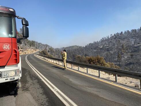 השטח שעל פי החשד הוצת בהרי ירושלים