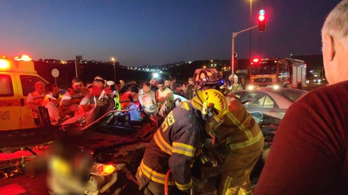 זירת התאונה בכביש 433