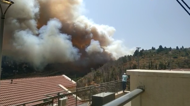 השריפה סמוך למבשרת
