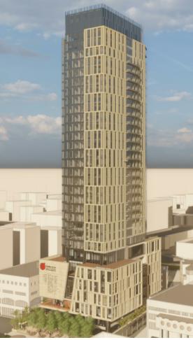 כך ייראה מגדל פרדס ברחוב פייר קניג בתלפיות