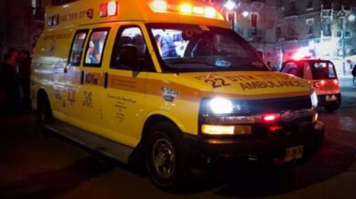 כוחות ההצלה פינו אותו לבית החולים