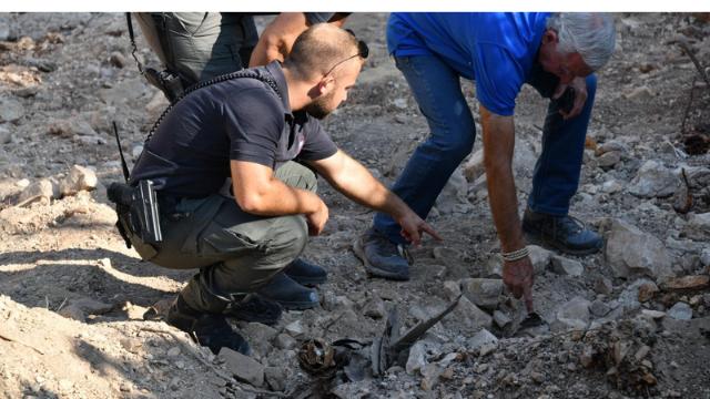 הפצצות שאותרו אתמול סמוך לגבעת התחמושת
