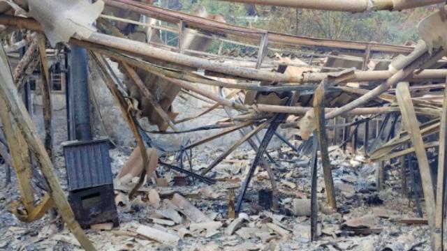 אחד הלולים שעלה באש ברמת רזיאל