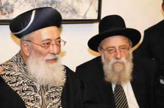 הרבנים שטרן (מימין) ועמאר