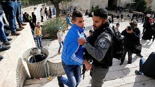 מהומות בשער שכם. צילום: רויטרס