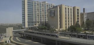 הדמית הרכבת להדסה עין כרם. הדמיה: תכנית אב לתחבורה ירושלים