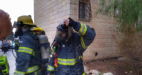 השריפה בגילה. צילום: כיבוי והצלה מחוז ירושלים, אריק אבולוף