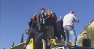 עופר ברקוביץ' על המשאית במחאה בשנה שעברה