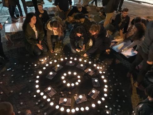 עצרת הזיכרון בכיכר ציון. צילום: לירן תמרי