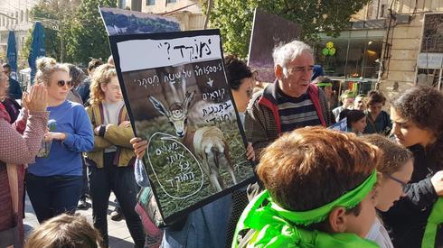 המאבק נגד בניית פארק מוצא. צילום: הדס בן ששון
