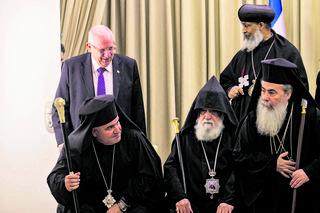 ראשי הכנסייה היוונית. צילום: אוהד צויגנברג