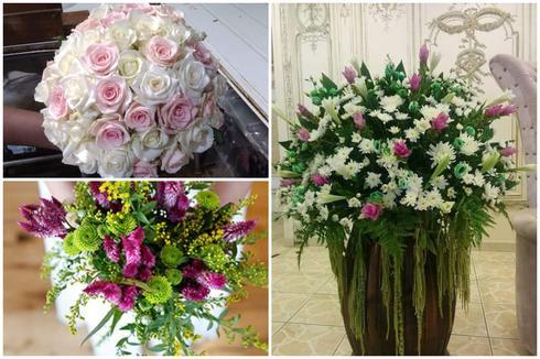 """עיצוב זרי כלה ופרחים לאירועים. פרחי השלום, יח""""צ"""