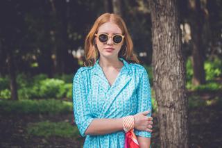 """שמלת מעטפת מבית המותג FEYGE, מחיר: 360 שקלים. להשיג ביריד האופנה """"אסופה"""". צילום: מלודי גלומברג"""