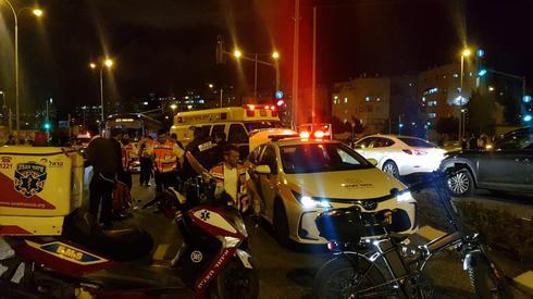 זירת האירוע בשדרות גולדה מאיר. צילום: תיעוד מבצעי איחוד הצלה