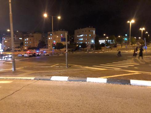 שדרות גולדה מאיר אחרי התאונה. צילום: לירן תמרי