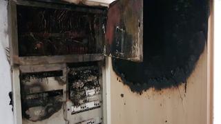 השריפה במשרד החינוך. צילום: כבאות והצלה מחוז ירושלים