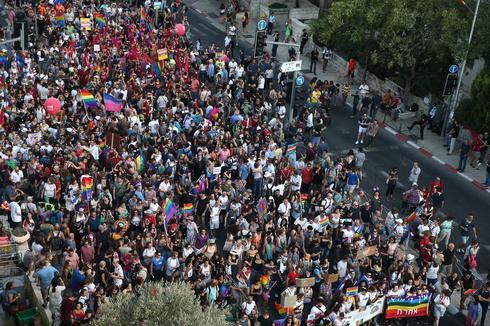 מצעד הגאווה בירושלים 2018 (צילום:  אוהד צויגנברג)