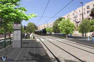 הרכבת ברחוב הגננת. הדמיה: תכנית אב לתחבורה