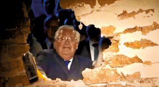 """השגריר פרידמן פורץ את הדרך. צילום: דף הפייסבוק """"עיר דוד - ירושלים הקדומה"""""""