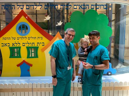 יענקי עם (מימין) ד״ר סליי ומשמאל דר ג׳ייקוב. צילום: דוברות הדסה