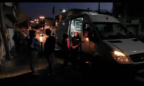 ניידת טיפול בתל אביב. צילום: פרטי