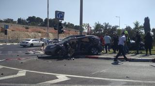 התאונה במחלף רוזמרין. צילום: עמית וקנין