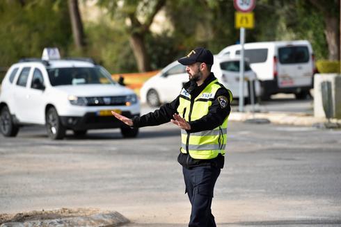 חסימת כבישים. צילום: דוברות המשטרה