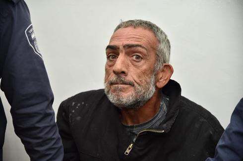 החשוד מאג'ד עלייאן בהארכת המעצר (צילום: יואב דודקביץ׳)