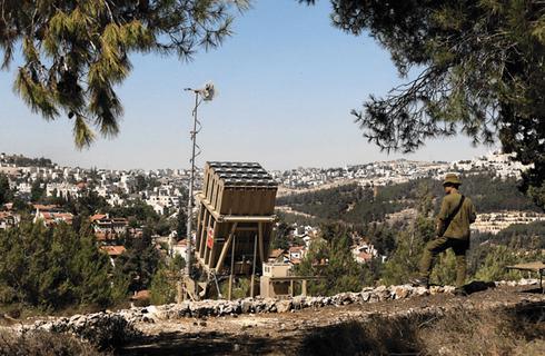 סוללה באזור ירושלים | צילום: עמית שאבי