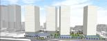 הבניינים החדשים ברובע העסקים. הדמיה: רכטר אדריכלים