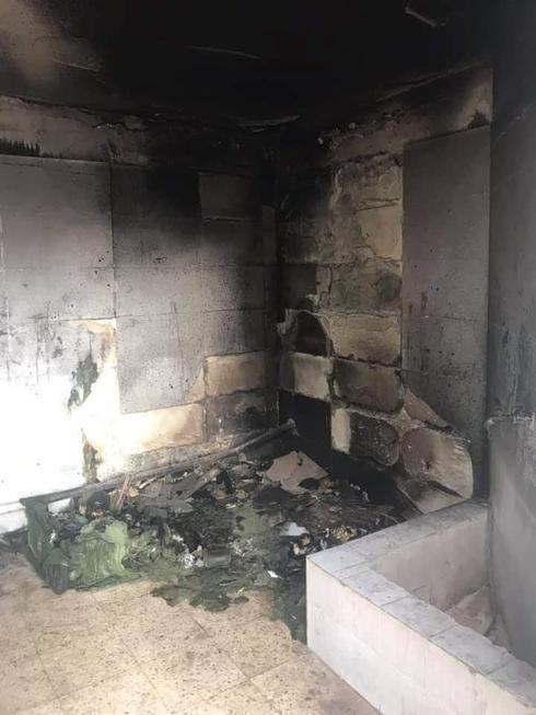 חדר האשפה השרוף (צילום: פרטי)
