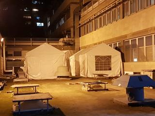 המתחם למבודדי קורונה בשערי צדק. צילום: עליה שדהו