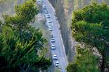 הדרך ביער ירושלים. כך היא נראית בשעת עומס | צילום: יואב דודקביץ